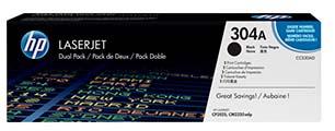 """HP Toner Nero 304A LaserJet Dual Pack codice CC530AD """"sottocosto"""""""